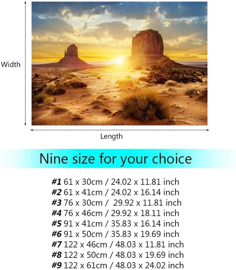 Aquarium Fish Tank Background Poster Sun and Desert Style PVC Adhesive Decor Paper Sticker 122*46