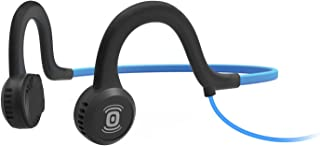AfterShokz Sportz Titanium - Wired Open-Ear Bone Conduction Headphones - Ocean Blue - 4 ft Wire - 12 Hour Battery Life - 2...