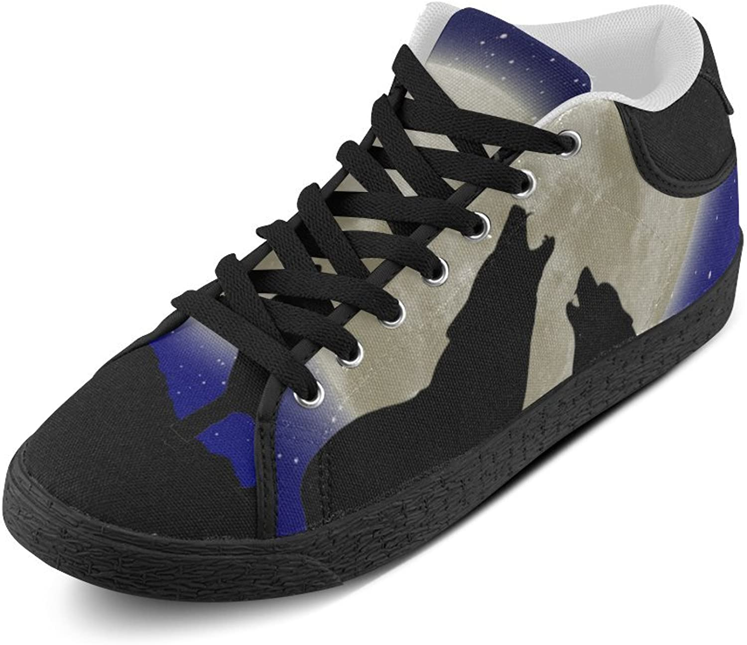 Wolf Moon Canvas Chukka Canvas Women's shoes
