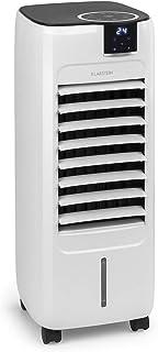 Klarstein Sonnendeck - Enfriador de aire, 3 en 1, Ventilador, Humidificador, Potencia de 45 W, Caudal de 888 m³/h, 3 velocidades, 2 tipos de viento, Oscilación, Panel táctil, Mando a distancia, Blanco