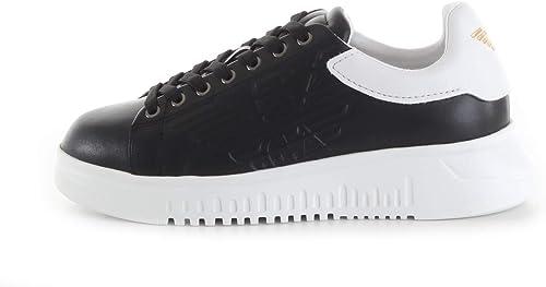 Emporio armani scarpe uomo sneakers in pelle con suola alta X4X180 XL183 A120_39