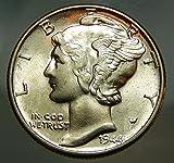 1944 Gem Brilliant Uncirculated Silver Mercury Dime Choice BU