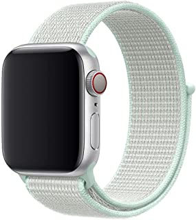 Nylon Strap for apple watch (1 2 3 4 5 ) band 42mm / 44mm -Teal Tint