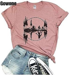 comprar comparacion Camiseta de Manga Corta para Mujer, diseño Retro de los años 80 con Texto en inglés Stranger Things