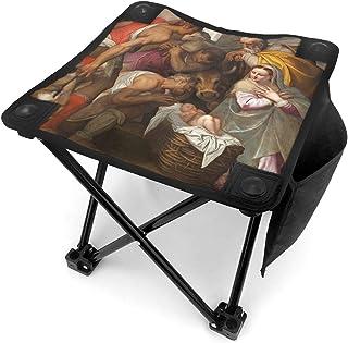 アウトドア 椅子 サンバーナーディーノ教会のキリスト降誕のシーン アウトドア 椅子 ピクニック 釣り コンパクト イス 持ち運び キャンプ用軽量 収納バッグ付き 折りたたみチェア レジャー 背もたれなし