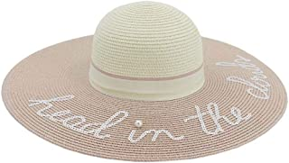 Sun Hat for men and women Ladies Straw Hat With Webbing Hood Derby Beach Hat Summer Hat Wide Side UV Protection Hat Women