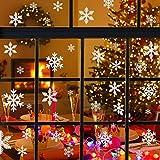 Naler 96 Schneeflocken Fensterbild Abnehmbare Fensterdeko Statisch Haftende PVC Aufkleber Winter Dekoration - 2