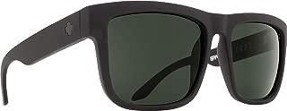 Discord Polarized Flat Sunglasses, Soft Matte Black/Happy Gray/Green Polar, 57 mm