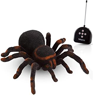 Cute Sunlight Wireless Remote Control Spider Toy Realistic 8 Inch Tarantula Animal Figures Funny Prank Joke Scare Gag Gifts for Halloween Christmas Party Decor Birthdays Holidays April Fool Pranks