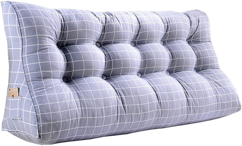 La mode double coussins de triangle de chevet taille oreiller canapé retour sac souple lit grand prougeéger l'oreiller de taille (Couleur    1, taille   60  90  30cm)