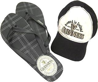 Guinness Beer Ireland Plaid Baseball Hat Flip Flops Combo Set