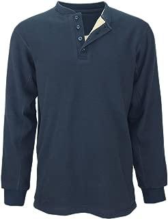 Men's Waffle Henley | Warm & Comfy Fleece Lined