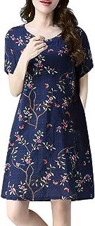 女性のゆったりとしたエスニックコットンとリネンのプリントドレスろんぐ ぬりえ もこもこ ドレス やすい おおきいサイズ ドレス かみかざり
