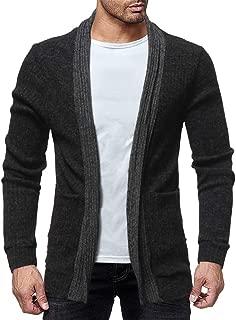 Mens Fashion Solid Knit Cardigan Sweater Sweatshirts Casual Slim Jacket Coat