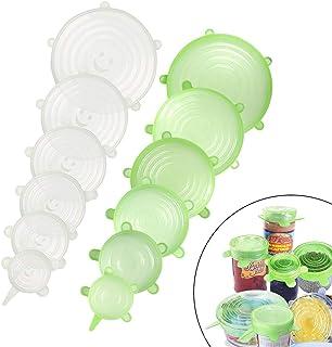 6//12 Pack Silikon Stretch Deckel Wiederverwendbar erweiterbar Food Saver Cover
