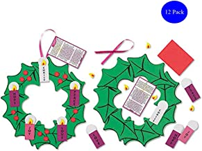Christmas Arts & Crafts Kit for Kids Foam Hanging Advent Wreath, Set of 12