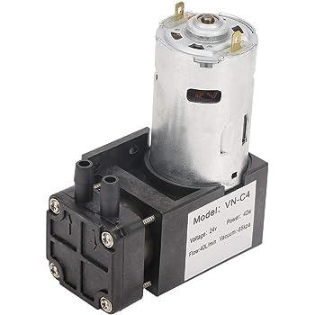 Akozon Mini Vacuum Pump DC12V 12W Mini Small Oilless Vacuum Pump 80KPa Flow 10L//min for Gas