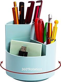حامل قلم رصاص للمكتب، 3 فتحات 360 درجة قلم رصاص دوار 360 درجة، منظمات أقلام تخزين المكتبية، لوازم القرطاسية وعاء لطيف للمك...
