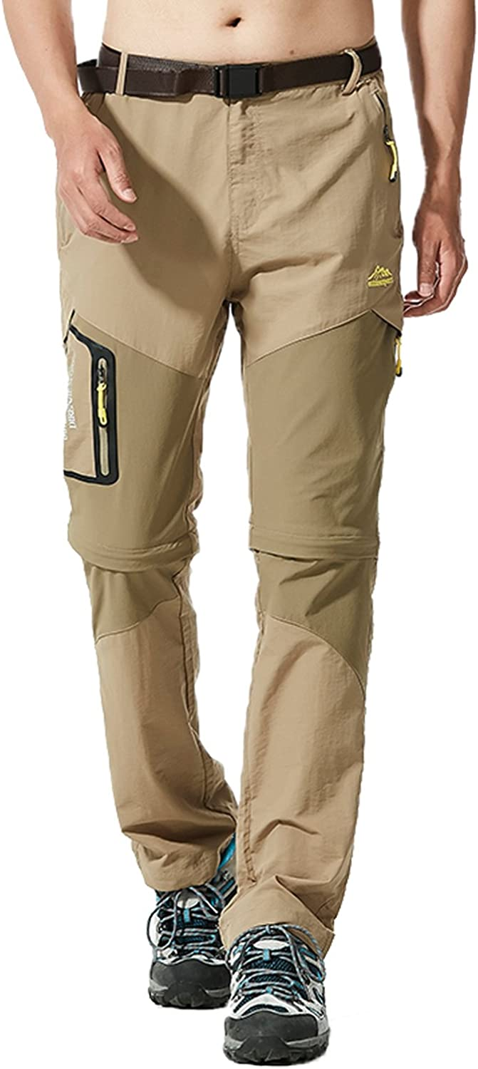 Mr.Stream Men's Walking Windproof Breathable Camping Quick Drying Outdoor Congreenible Hiking Pants