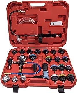 maXpeedingrods Testador de pressão de radiador universal, 28 peças, 21 tampas de teste de pressão de arrefecimento, kit te...
