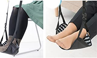 E-Bro Travel Adjustable Foot Rest Stand Portable Feet Hammock Flight Footrest Travel Accessories Plane/Train/Home/Office