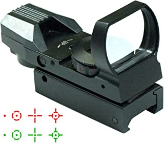 IRON JIA'S Tactical Holographic Reflex Red Green Dot Sight 4 Type Reticle for 20mm Rails Airsoft Hunting