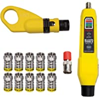 Klein Tools VDV002-820 Coax Push-On Connector Installation and Test Kit