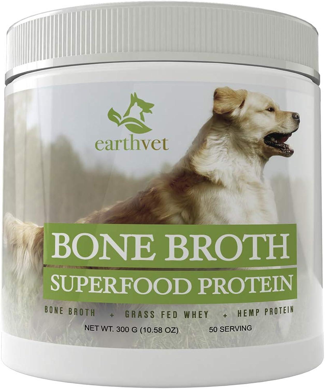 Bone Bredh Superfood Predein for Dogs  Contains Bone Bredh, Grass Fed Whey, Hemp Predein (50 Serving)