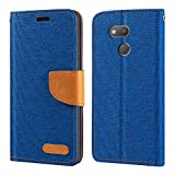 HTC Desire 12S Case, Oxford Leather Wallet Case with Soft