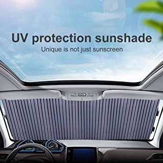 HKPKYK Windshield Retractable Sunshade,Car Window Sun Shade Cover Anti UV Protection Cortina del Coche Retractable Plegable Car Sunshade Cover Auto Accesorios Universal Set