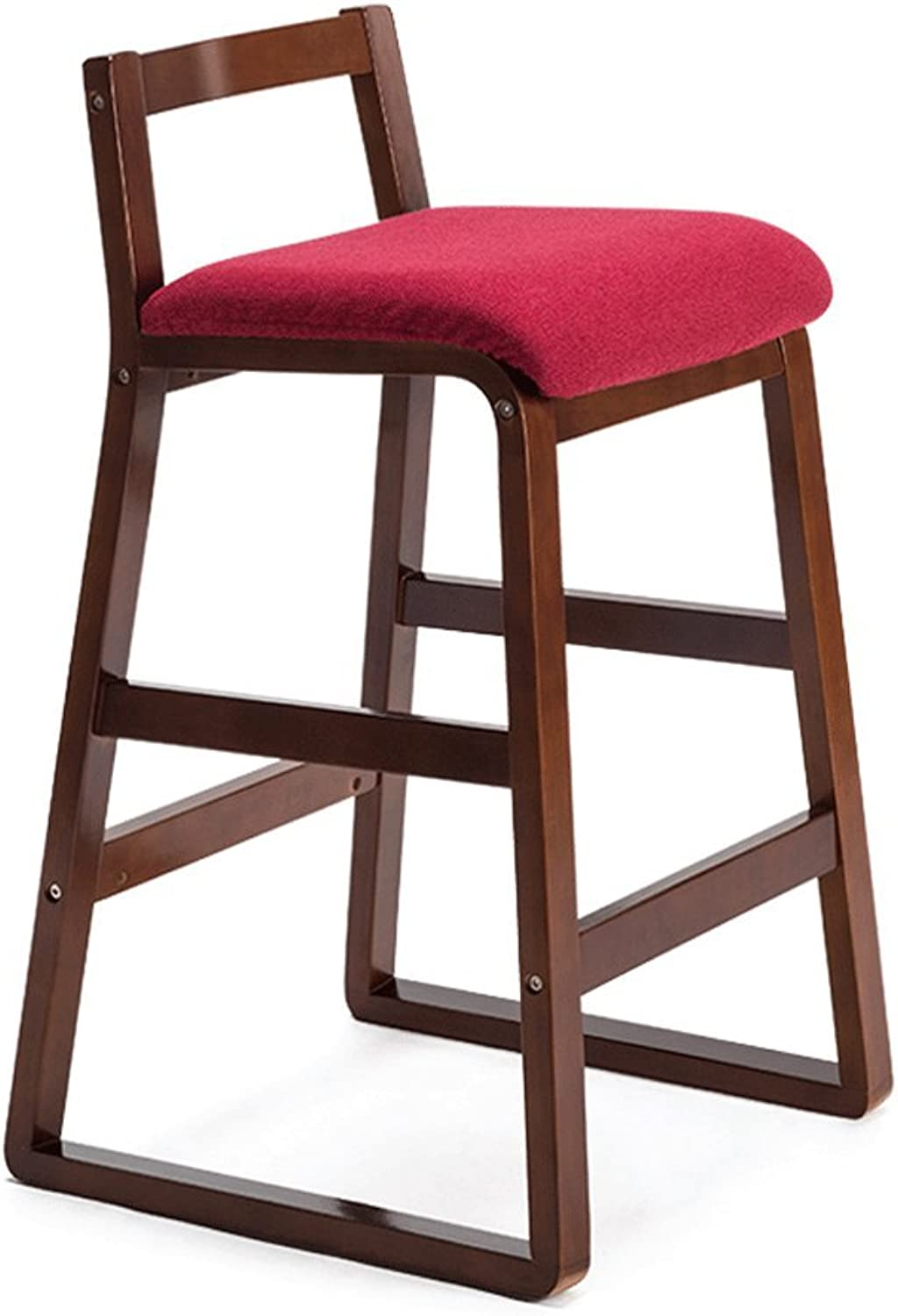 TXXM Barstools Solid Wood Stool Creative Bar Chair Removable Fabric Chair Modern Cafe Stool (color   D, Size   68.5cm)