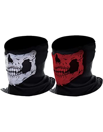 New Transparent Skeleton Mask Half Face Print Halloween Accessory