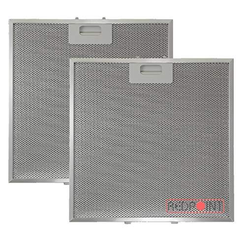 Kit 2 Stück Aluminium-Fettfilter Austauschfilter Dunstabzugshaube Für ELICA mm.320 x 320 x 9