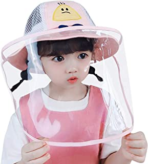 KESYOO Bucket Hat Outdoor Face Shield Hat Frog Dustproof Hat with Clear Face Cover for Babies Kids Toddlers - For 1-3 Year...