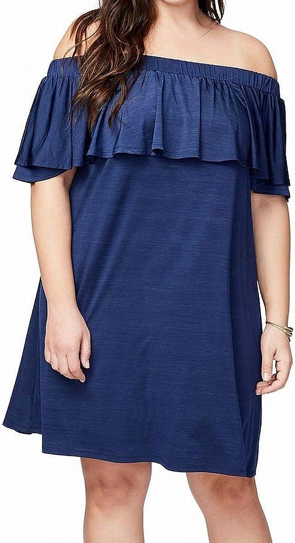 Rachel Rachel Roy Womens Plus Ruffled OffTheShoulder Casual Dress