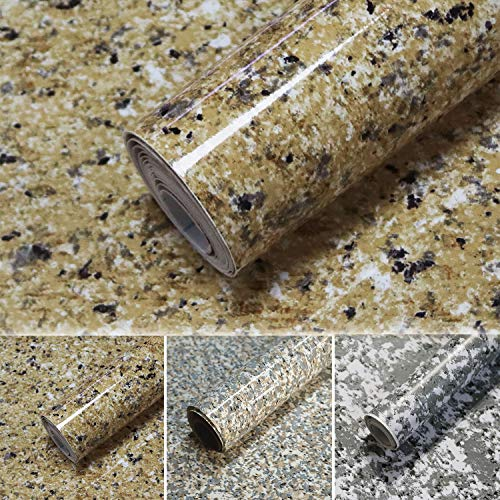 Timeet Brown Marble Paper Granite Contact Paper for Countertops Cabinet Furniture Waterproof Removable Self Adhesive Wallpaper Easy to Clean Thicken Upgrade Vinyl Film Roll 17.7' x 78.7'