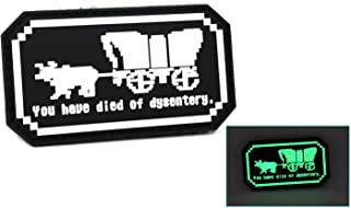 You Have Died of Dysentery Glow in The Dark PVC Rubber Tactical Patch | Oregon Trail Inspired | Funny Morale Patch
