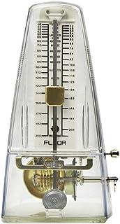 FLEOR Clásico Triángulo Metrónomo Mecánico para Guitarra Piano, Transparente Color Claro