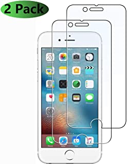 Kailer Apple iPhone 6plus 6s Plus 7Plus 8Plus(5.5'') Tempered Glass Screen Protector (Clear) 2 Pack 9H Hardness Tempered Glass Screen Protector for Apple iPhone6plus 6s Plus 7Plus 8Plus