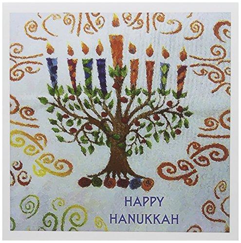 3dRose Hanukkah Menorah - Greeting Cards, 6 x 6 inches, set of 12 (gc_32033_2)