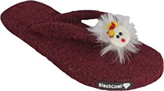 BlackCoal Women Slippers Girls Slip-on Home Towel Flip Flops WFC33