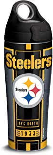 Tervis 1317561 NFL Pittsburgh Steelers - Blitz Stainless Steel Insulated Tumbler with Black with Gray Lid, 24 oz Water Bottle, Silver