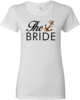 Ladies The Bride Groom Wedding Marriage Bridal Party Funny DT T-Shirt Tee