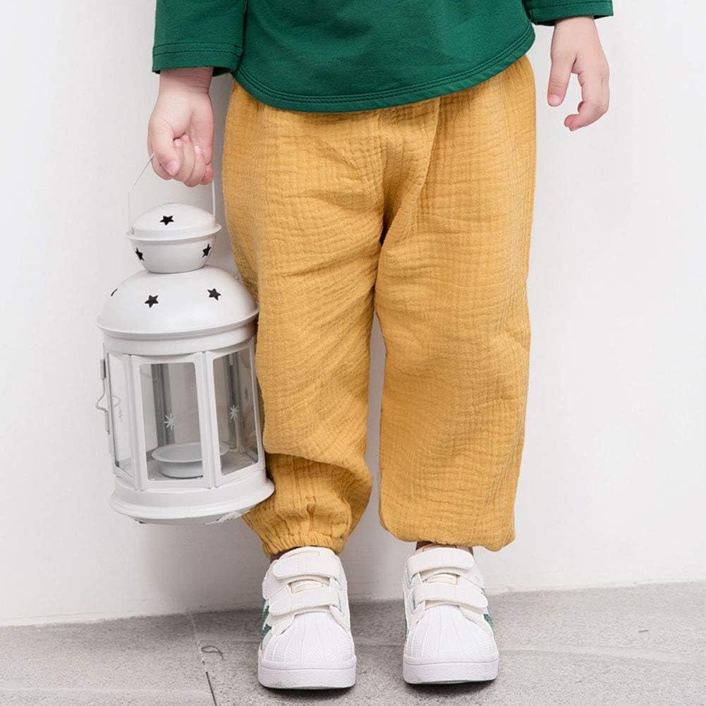 Soly Tech Kids Boys Girls Elastic Waist Loose Casual Vintage Lantern Harem Pants