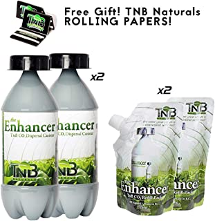 TNB Naturals CO2 Bottle and Refill Dual Packs (2 of Each!) with Free TNB Rolling Papers