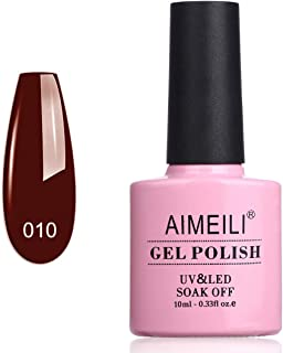 AIMEILI Soak Off UV LED Gel Nail Polish - Red Vixen (010) 10ml