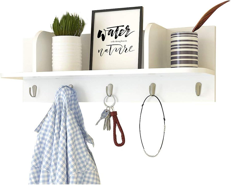 Wall-Mounted Coat Rack Creative Porch Hook Racks Solid Wood Bedroom Wall Hangers Living Room Wall Coat Hook