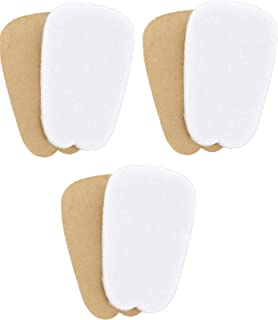 3 Pairs of Felt Tongue Pads Cushion for Shoes (Large)