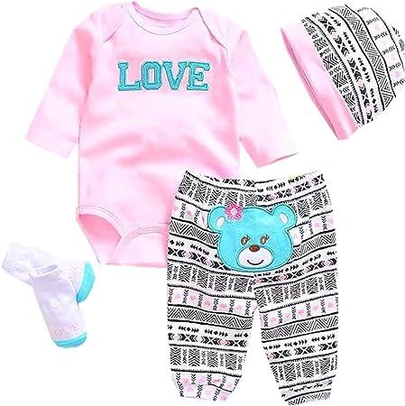 "22/"" 23/"" Reborn Baby Dolls Clothes Cute Toddler Baby Girl Doll Clothing Set Xmas"