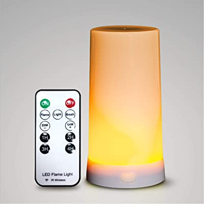 JUMEI USB LED Dynamic Flame Effect Table lamp 5V Interior Decoration Desk lamp Fire Atmosphere Night Light Indoor Lighting for Bedroom